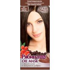 Тонувальна маска для волосся Acme Горобина Ton oil mask № 043 Темний каштан 41 г