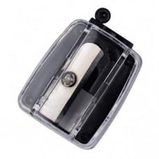 Точилка косметична з контейнером чорна Luxury PS-03