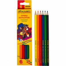Олівці кольорові MARCO Пегашка 1010 6 шт
