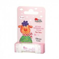 Дитяча гігієнічна помада Pink Elephant For Girls Овечка Соня 3,6 г