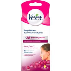 Воскові смужки для депіляції Veet Naturals для нормальної та сухої шкіри обличчя з олією Ши 20 шт