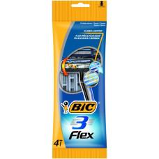 Одноразові станки BIC Flex 3 4 шт