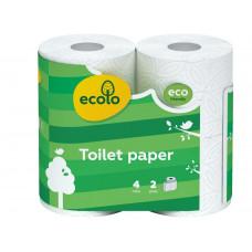 Туалетний папір Ecolo 2 шари Білий 4 шт