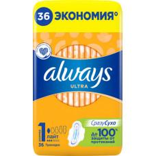 Гігієнічні прокладки Always Ultra Light (Розмiр 1) 36 шт
