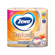 Туалетний папір Zewa Deluxe 3 шари з ароматом персику 4 шт
