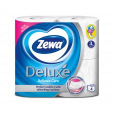 Туалетний папір Zewa Deluxe 3 шари Білий 4 шт
