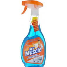 Засіб для миття скла та інших поверхонь Mr Muscle Професіонал з курком зі спиртом 500 мл