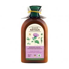 Бальзам-маска Зелёная Аптека проти випадіння волосся Лопух і протеїни пшениці 300 мл