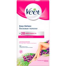 Воскові смужки для депіляції Veet для нормальної шкіри 12 шт