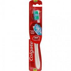 Зубна щітка Colgate 360 ° Optic White відбілююча середньої жорсткості