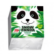 Серветки столові Сніжна Панда 1 шар білі 100 шт
