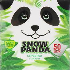 Серветки столові Сніжна Панда 2 шари білі 50 шт