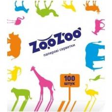 Серветки столові ZooZoo 1 шар Білі 100 шт