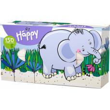 Хустинки паперові Bella baby Happy універсальні двошарові 100 + 50 шт