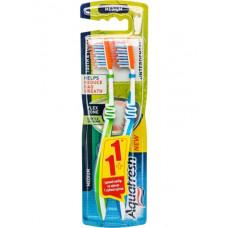 Зубна щітка Aquafresh Tooth & Tongue Interden  1+1 Середньої жорсткості