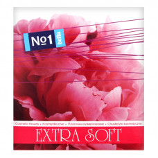 Хустинки паперові Bella №1 косметичні двошарові 80 шт Квіти