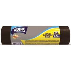 Пакети для сміття NOVAX 60 л 15 шт