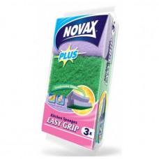 Губки кухонні Novax Plus EASY GRIP 3 шт