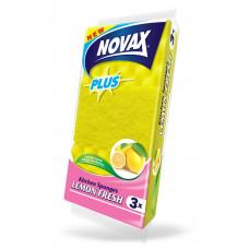 Губки кухонні Novax Plus LEMON FRESH 3 шт