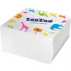 Серветки столові ZooZoo 1 шар Білі 60 шт