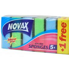 Губки кухонні Novax SPONGES 5+1 шт
