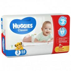 Підгузки Huggies Classic розмір 3 Jumbo 3-9 кг 58 шт