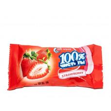 Вологі серветки 100% Чистоти з ароматом полуниці 15 шт