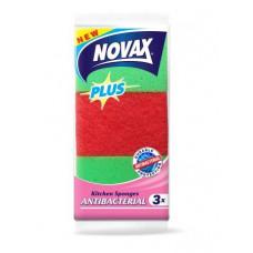 Губки кухонні Novax Plus Antibacterial 3шт