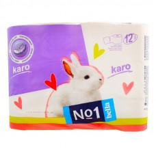 Туалетний папір Bella Karo 2 шари 12 шт