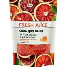 Сіль для ванн Fresh Juice Сицилійський апельсин та клементин 500 г дой-пак
