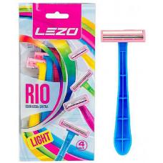 Станки одноразові для гоління  LEZO LADY RIO 8+2 шт