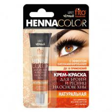 Крем-фарба для брів та вій Henna Color колір Чорний в тубі