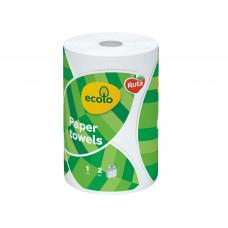 Паперовий рушник Ecolo 2 шари 1 рулон Білий