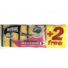 Губки кухонні Novax Plus MAXI FOAM 5+2 шт