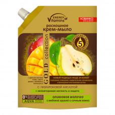 Крем-мило Energy of Vitamins Оливкове молочко з медовою грушею і соковитим манго 450 мл
