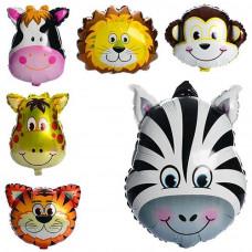 Кульки надувні фольговані MK 1332 тварини, 6 видів, 60-45 см