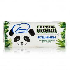 Паперові рушники листові Сніжна Панда  2 шари 140 шт