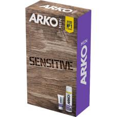 Подарунковий набір ARKO Men набір Sensitive піна для гоління+крем після гоління