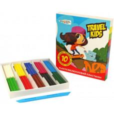 Пластилін восковий Гамма Travel kids 331016 10 кольорів