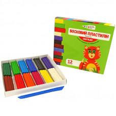 Пластилін Гамма восковий Graft&Joy 331017 12 кольорів