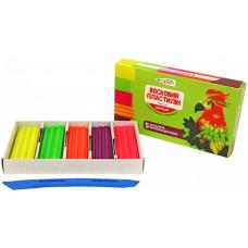 Пластилін восковий Гамма 331055 Craft&Joy 5 кольорів, флуоресцентний