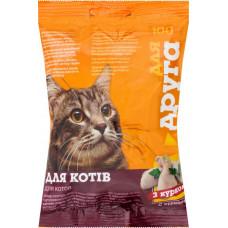 Сухий корм для котів Для Друга зі смаком курки 100 г 18330