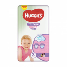 Підгузки-трусики Huggies Pants Girl розмір 3 6-11 кг 44 шт