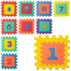 Килимок Мозаїка M 5731 цифри, 10 деталей, 6 текстур, масаж, пазл, мікс кольорів, кул., 32-