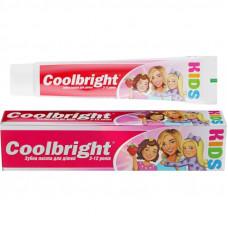 Дитяча зубна паста Coolbright Kids Girls для дівчаток від 3-12 років 105 мл