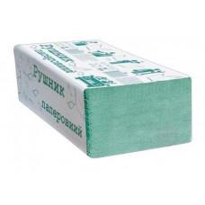 Паперові рушники листові Альбатрос  ZZ зелені 160 шт