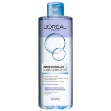 Біфазна міцелярна вода LOreal Paris для очищення всіх типів шкіри 400 мл