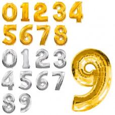 Кульки надувні фольговані MK 2723-3 цифри, 16 дюймів, 0-9, 2 кольори, 50 шт