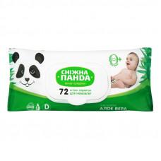 Вологі серветки Сніжна Панда Kids з екстрактом Алое вера 72 шт (клапан)