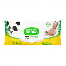 Вологі серветки Сніжна Панда Kids з екстрактом ромашки 72 шт (клапан)